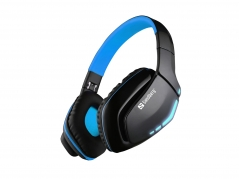 Blue Storm Wireless Headset Over-Ear, Black/Blue